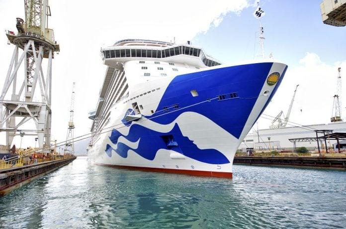 Princess Cruise Ship in Yard