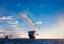 Cunard Queens Meet Red Arrows