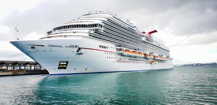 Carnival Horizon Docked in San Juan