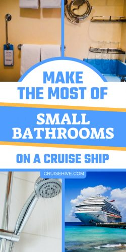 Cruise tips for being prepared for thos often small cruise ship bathrooms. Items to make it easier during your cruise vacation.