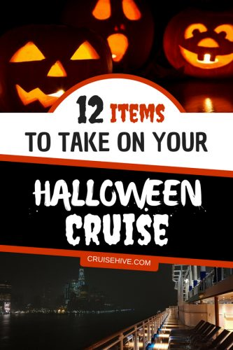 We've got you covered with these scary and cool Halloween cruise items to pack. Perfect easy travel packing Halloween items.