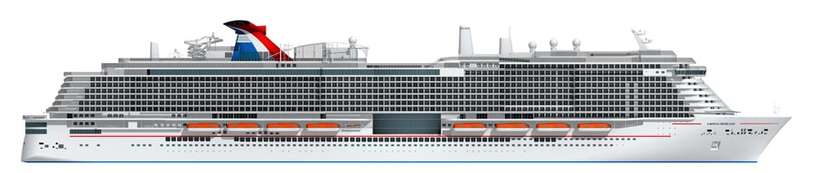 New LNG Carnival Cruise Ship Rendering