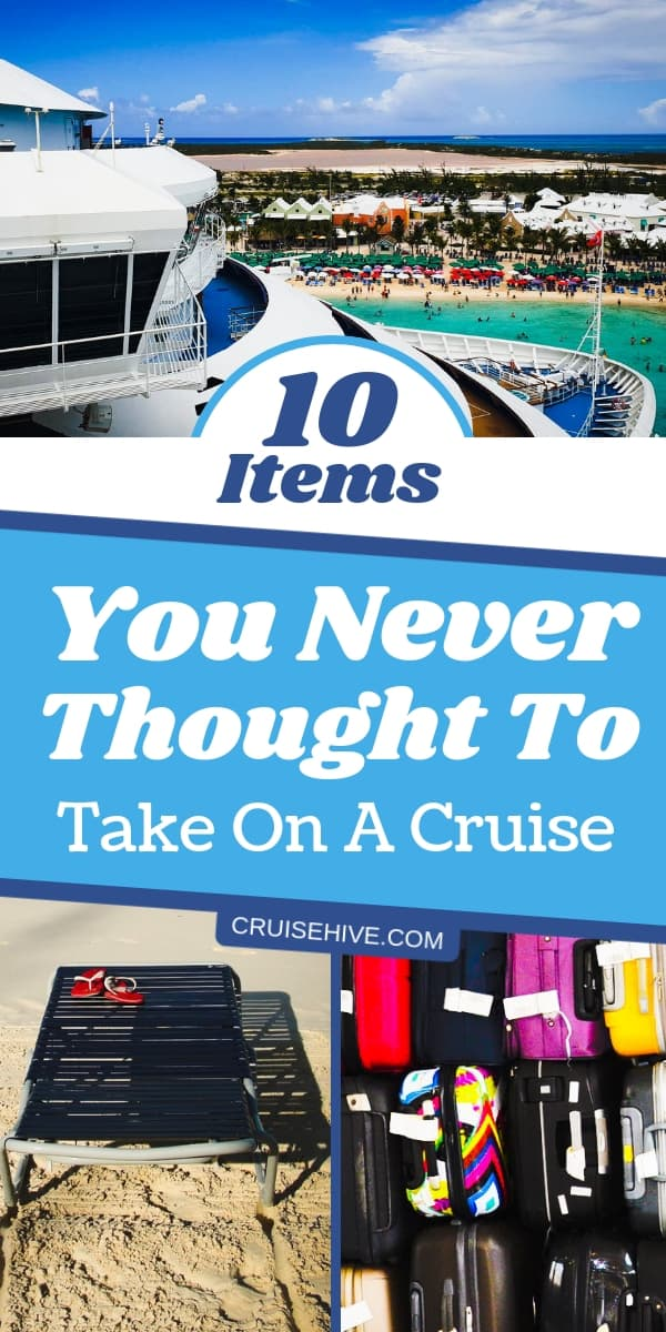 Cruise packing tips on making sure you've thought of everything! Some handy items you never thought of for your cruise vacation.