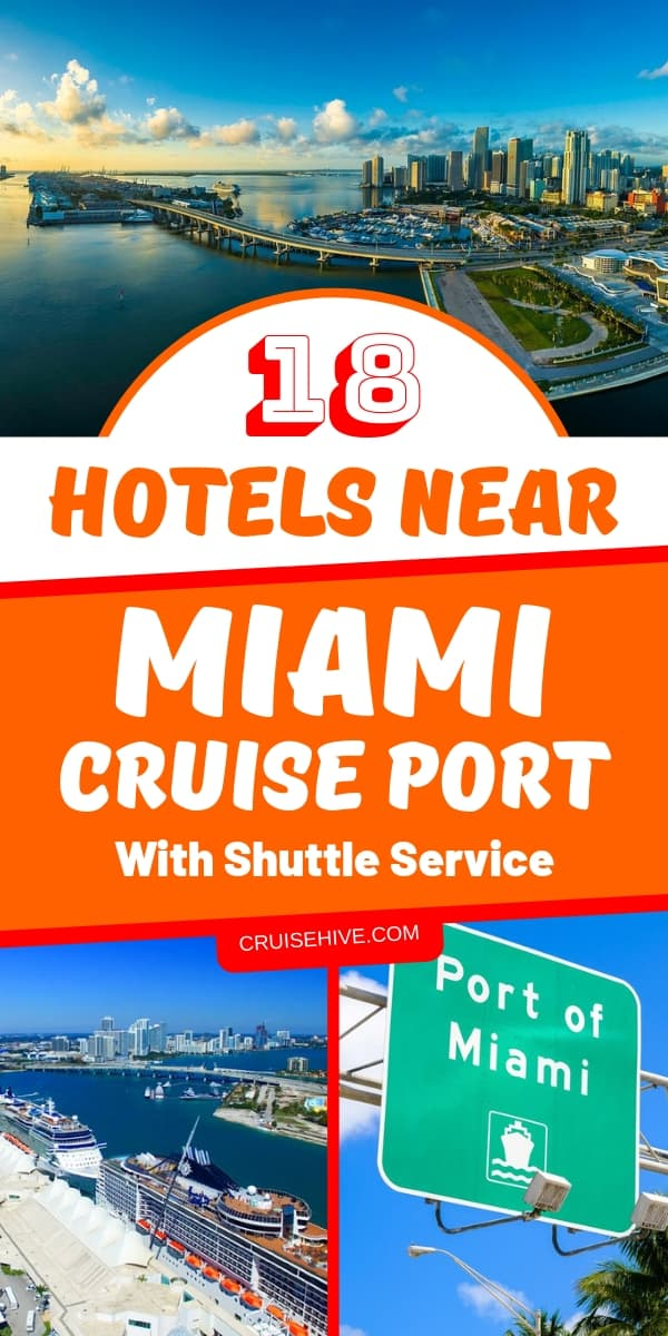 Cruise tips for traveling to the cruise ship with hotels near Miami cruise port in Florida. We list the hotels with free and paid shuttle service to the port.