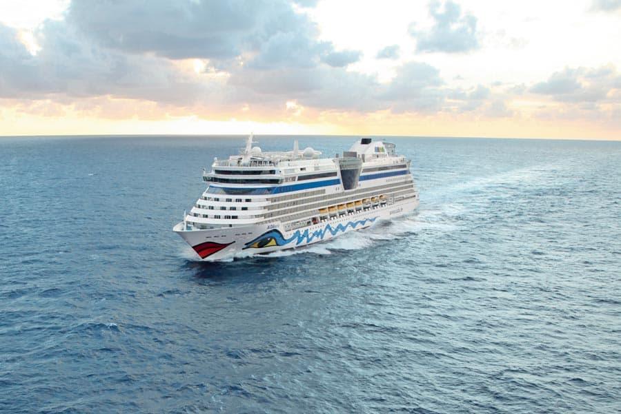 Aidaluna Cruise Ship at Sea