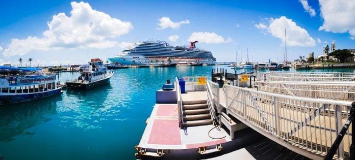 Cruise Ship Docked in Bermuda