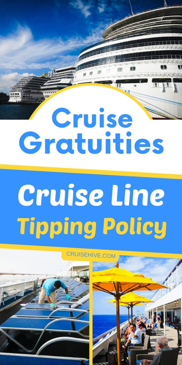 Cruise tips and details on major cruise line tipping policies. Covering gratuity charges and more.