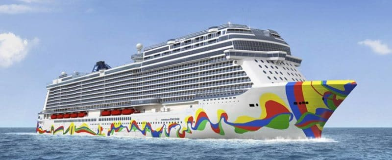 Norwegian Encore Hull Artwork