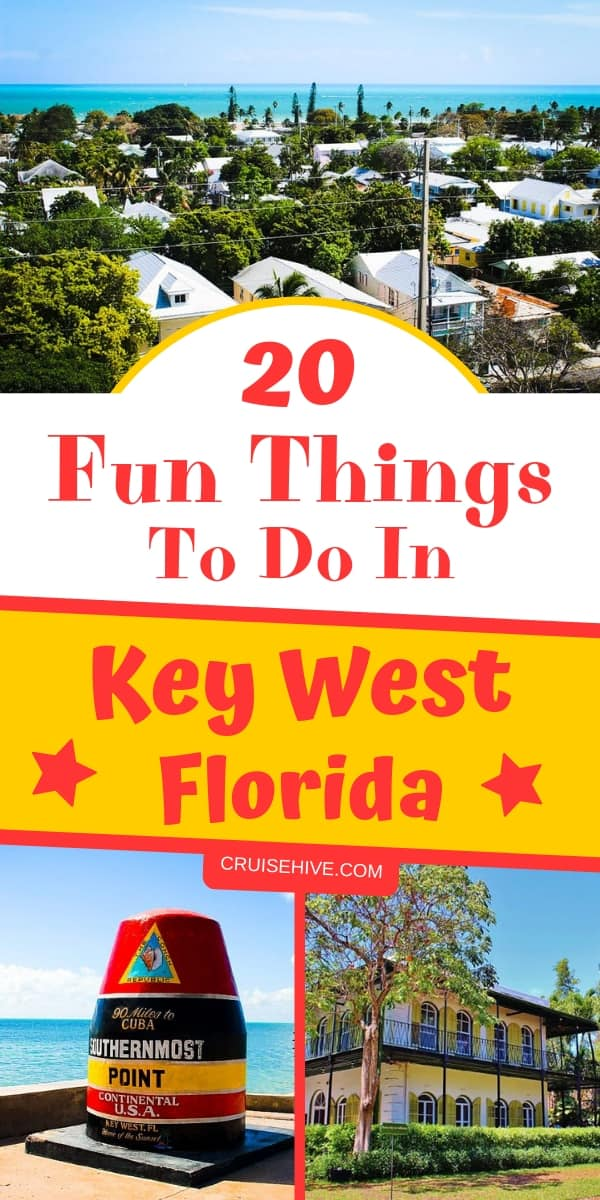 Check all these fun things to do in Key West, Florida while on a cruise vacation. We've got cruise tips to make sure you have the best time at this Florida destination.