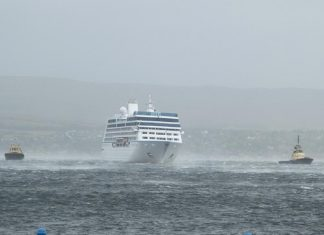 Luxury Cruise Ship Breaks From Moorings