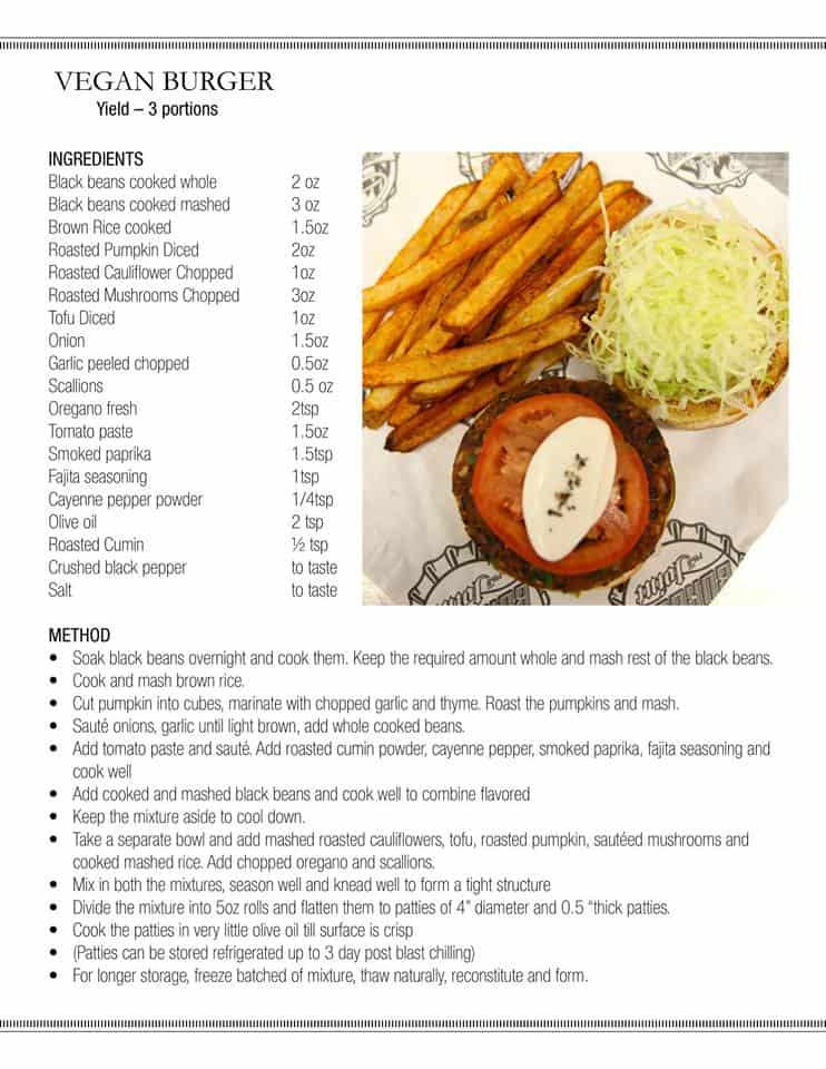 Carnival Vegan Burger