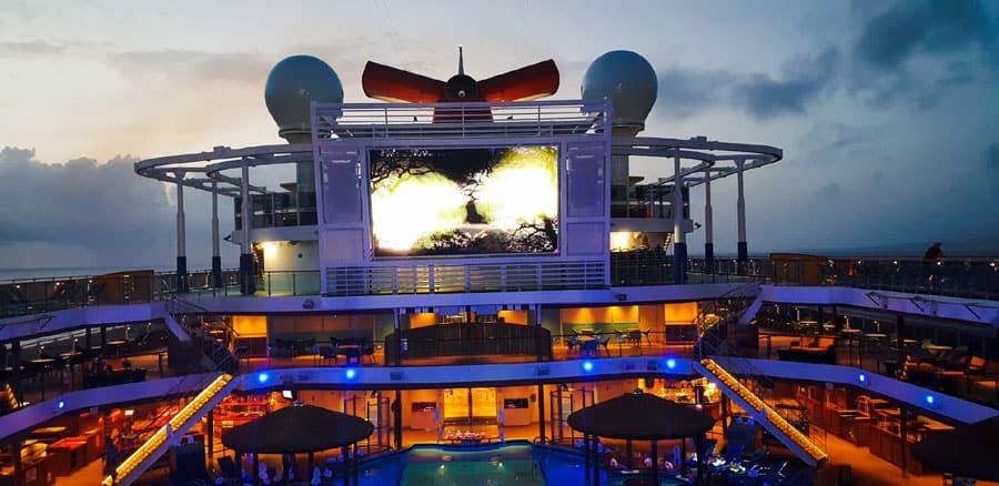Carnival Cruise Ship Lido Deck