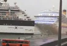 Celebrity Constellation Breaks From Moorings