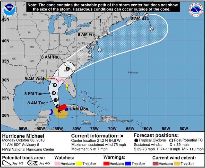 Hurricane Michael Latest
