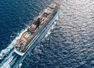 MSC Cruise Ship Arial