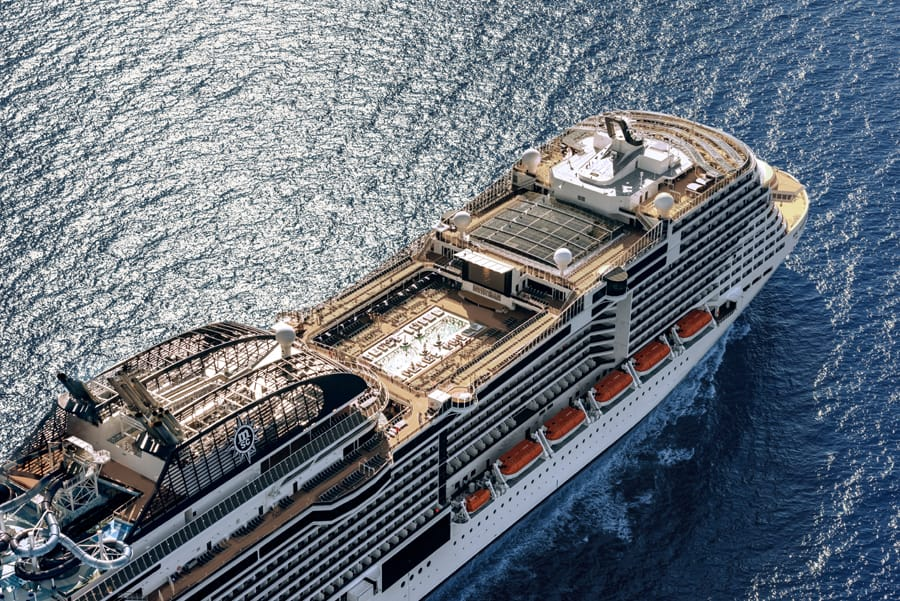 MSC Cruise Ship Arial