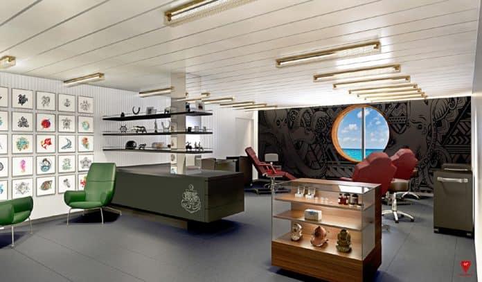 Virgin Voyages Tattoo Studio
