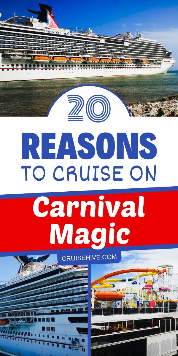 Covering features which are on the Carnival Magic cruise ship operated by Carnival Cruise Line.