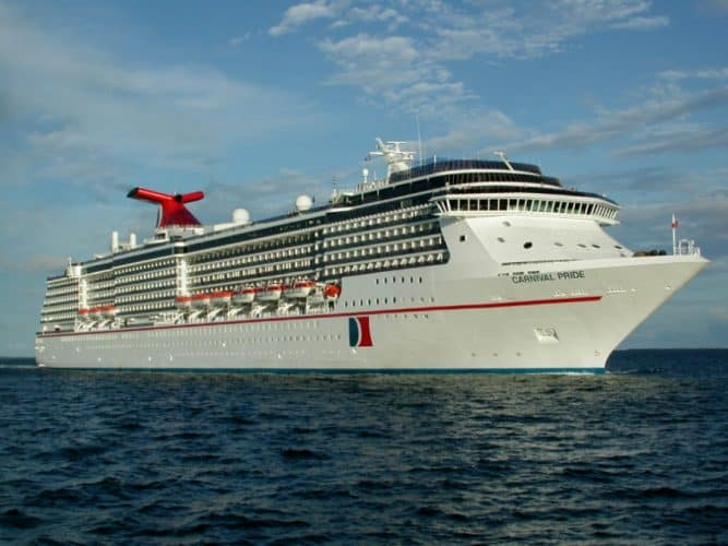 Carnival Pride at Sea