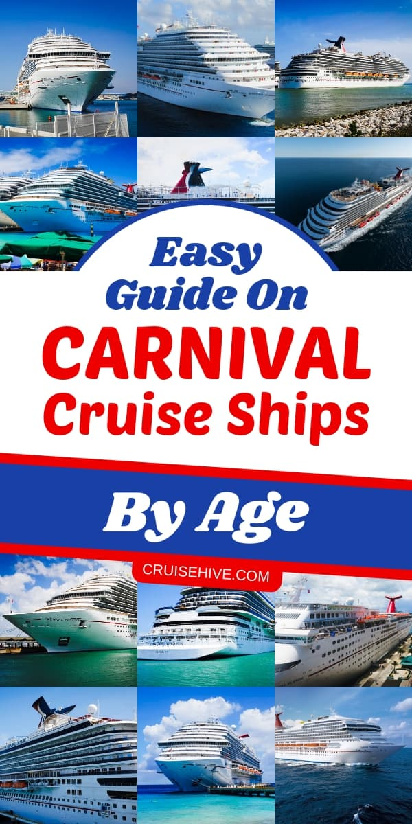First time Carnival cruise tips to help you know each ship by age. Good to know before choosing a cruise vacation.