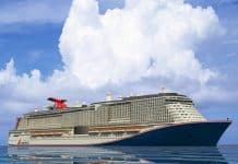 Large Carnival LNG Cruise Ship