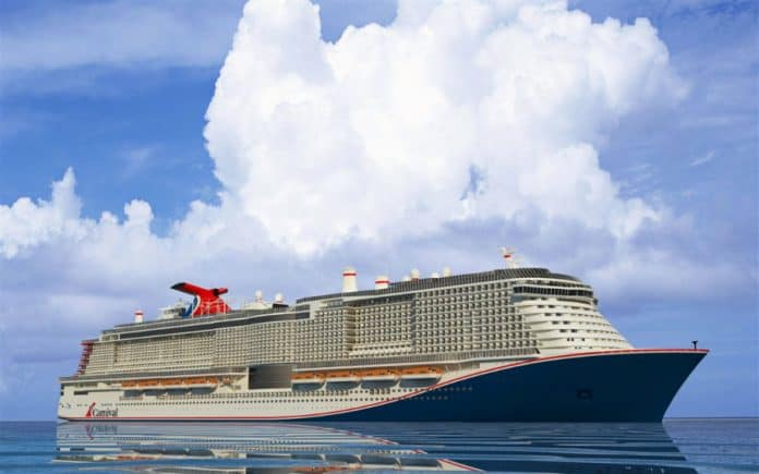 Large Carnival LNG Cruise Ship