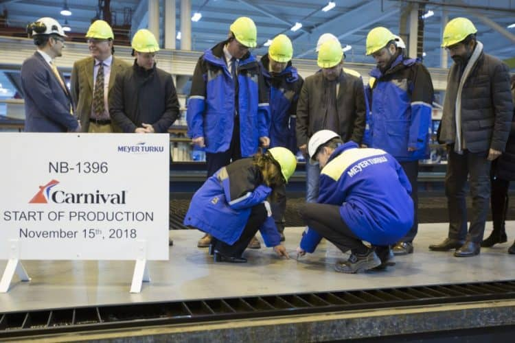 Steel Cutting for Carnival LNG Ship