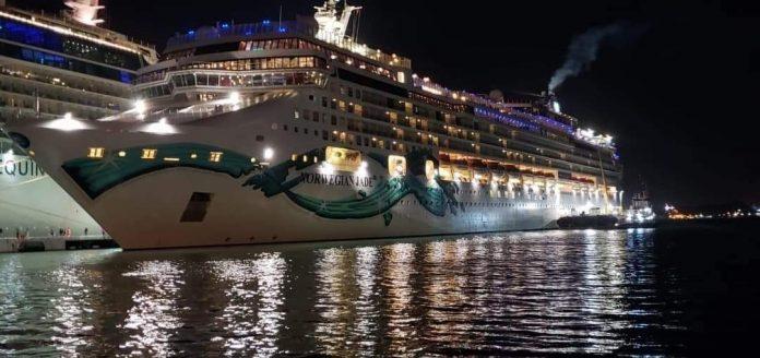 Norwegian Jade Docked in San Juan