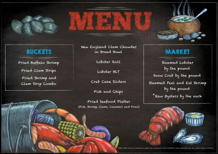Seafood Shack Menu