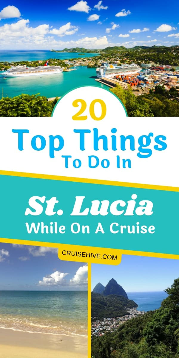 Top things to do in St. Lucia, a stunning Caribbean island popular for a cruise vacation. See what there is to do for shore excursions and beaches.