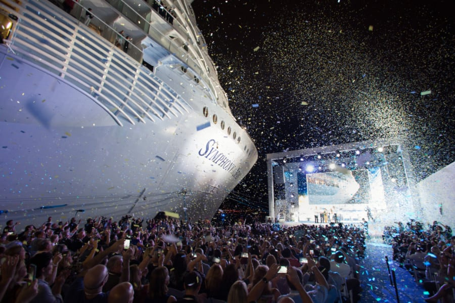 Symphony of the Seas Naming Ceremony