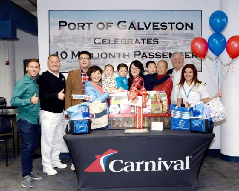 Galveston 10 Millionth Cruise Passenger