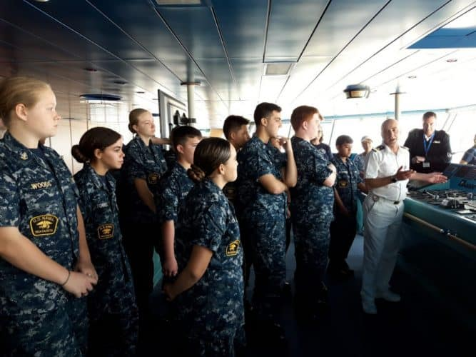 Cadets Aboard Carnival Liberty
