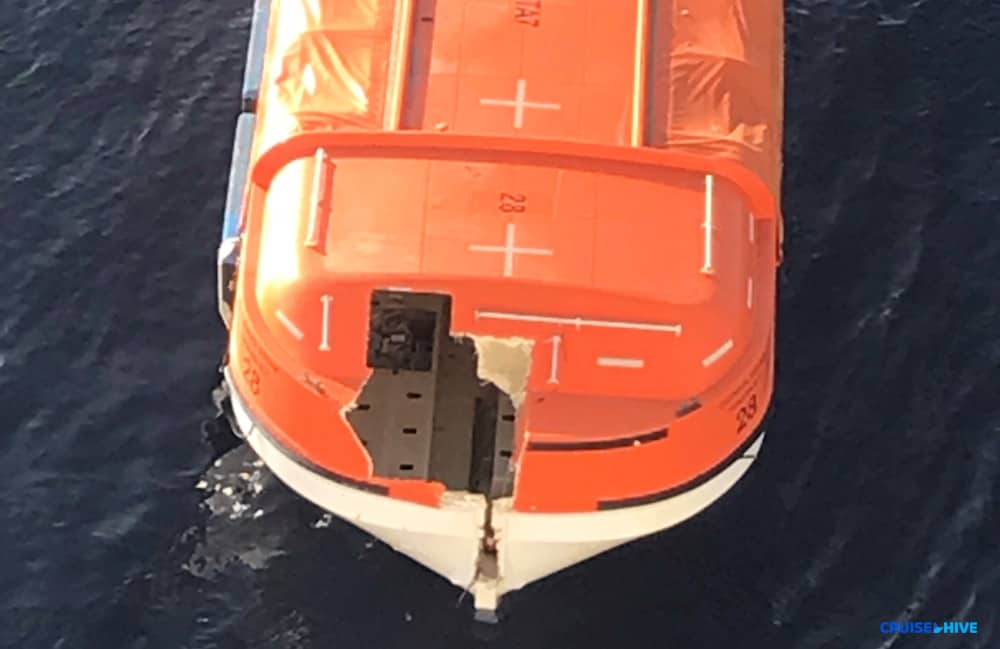 Carnival Dream Lifeboat Damage