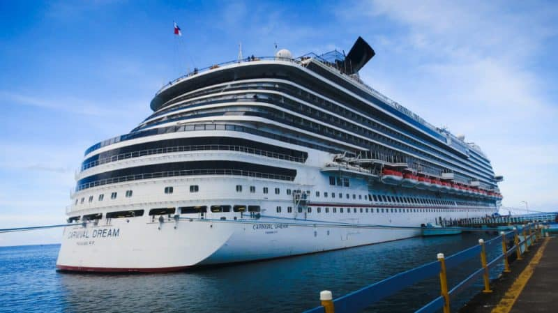 Carnival Dream Cruise Ship in Port