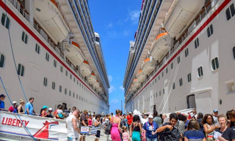 Two Carnival Cruise Ships in Port