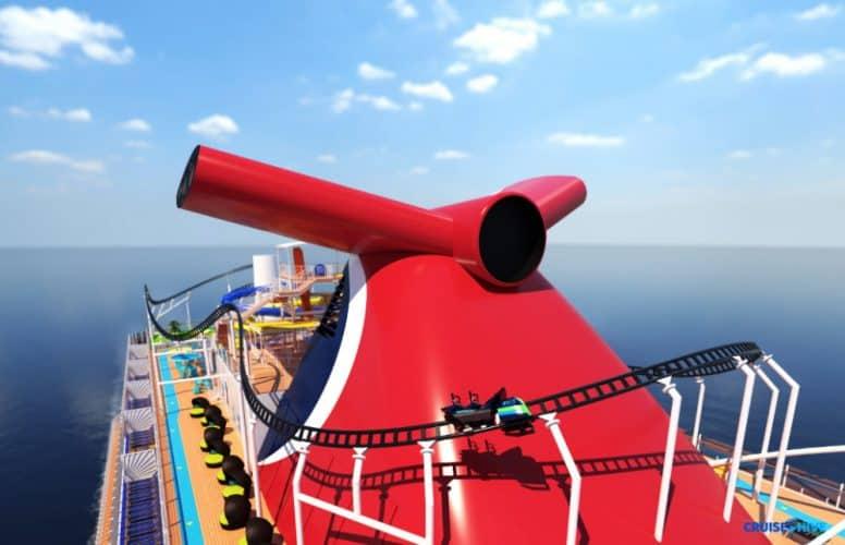 Carnival Mardi Gras Roller Coaster