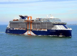 Celebrity Edge Sailing at Sea