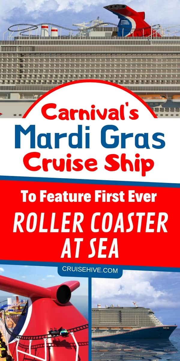 The Mardi Gras cruise ship from Carnival Cruise Line will feature the world's first roller coaster at sea! Now this is a Carnival cruise vacation you want to book!