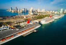 PortMiami, Florida Docked Cruise Ships