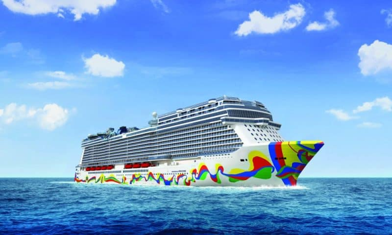 Norwegian Encore Aerial Rendering