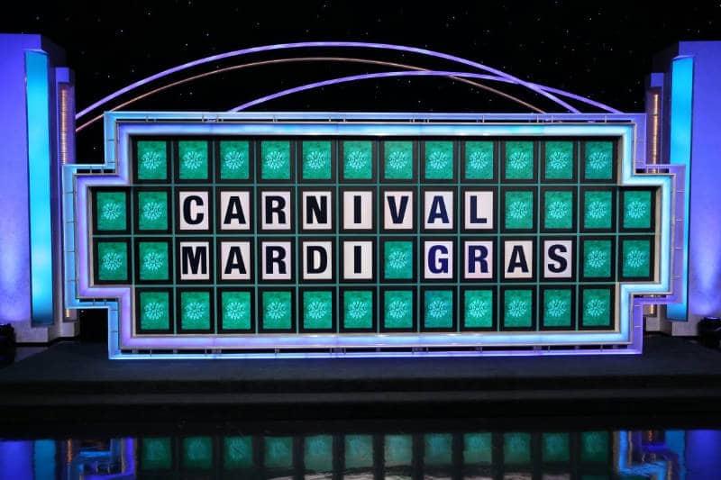 Mardi Gras, Wheel of Fortune