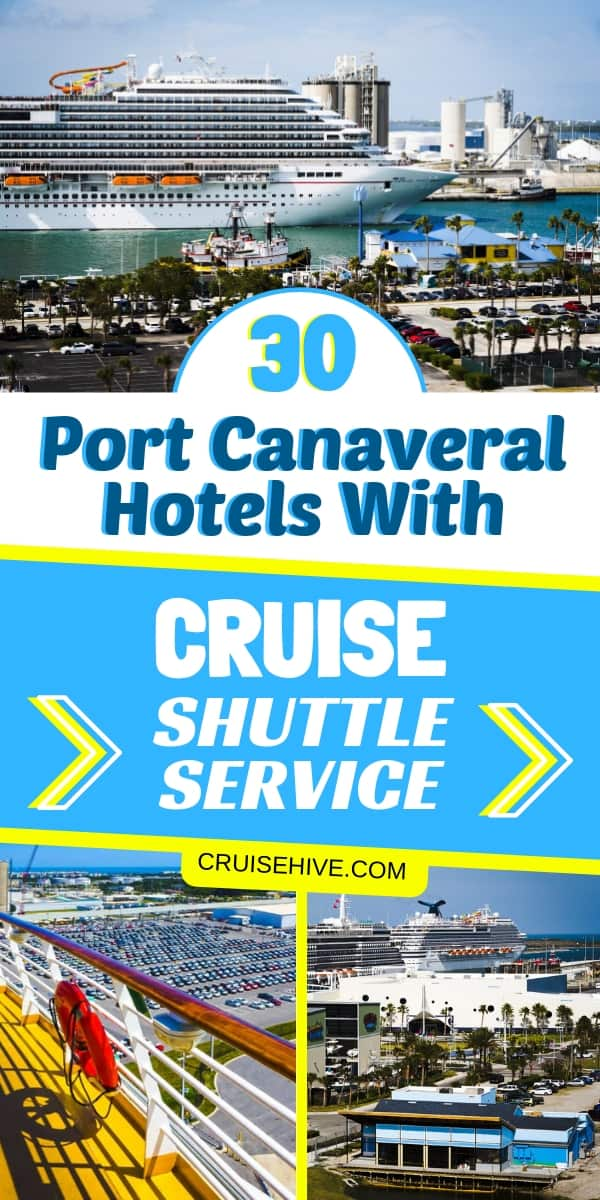 If you're thinking about a cruise vacation from Florida then here are 30 Port Canaveral hotels providing shuttle service. Transportation details for hotels in Orlando and Cocoa too.