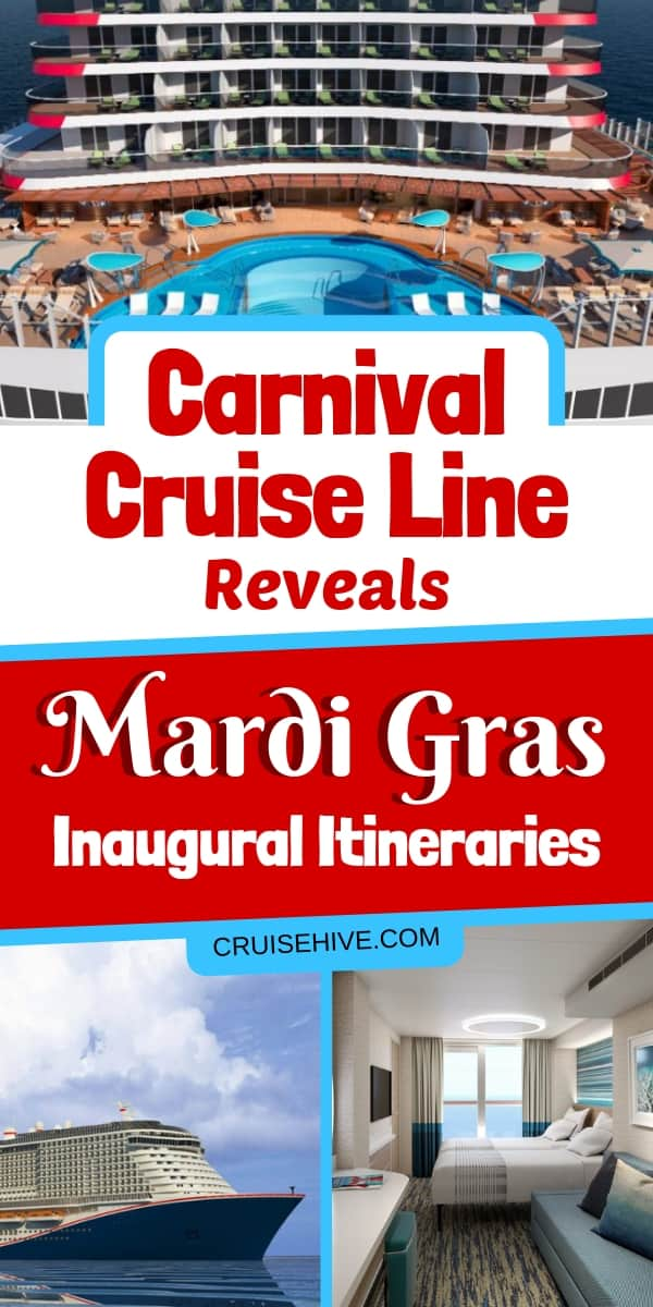 Carnival Cruise Line has revealed the inaugural itineraries of Mardi Gras, the new mega-ship arriving in 2020. The vessel will be sailing in Europe, a transatlantic voyage and in the Caribbean.