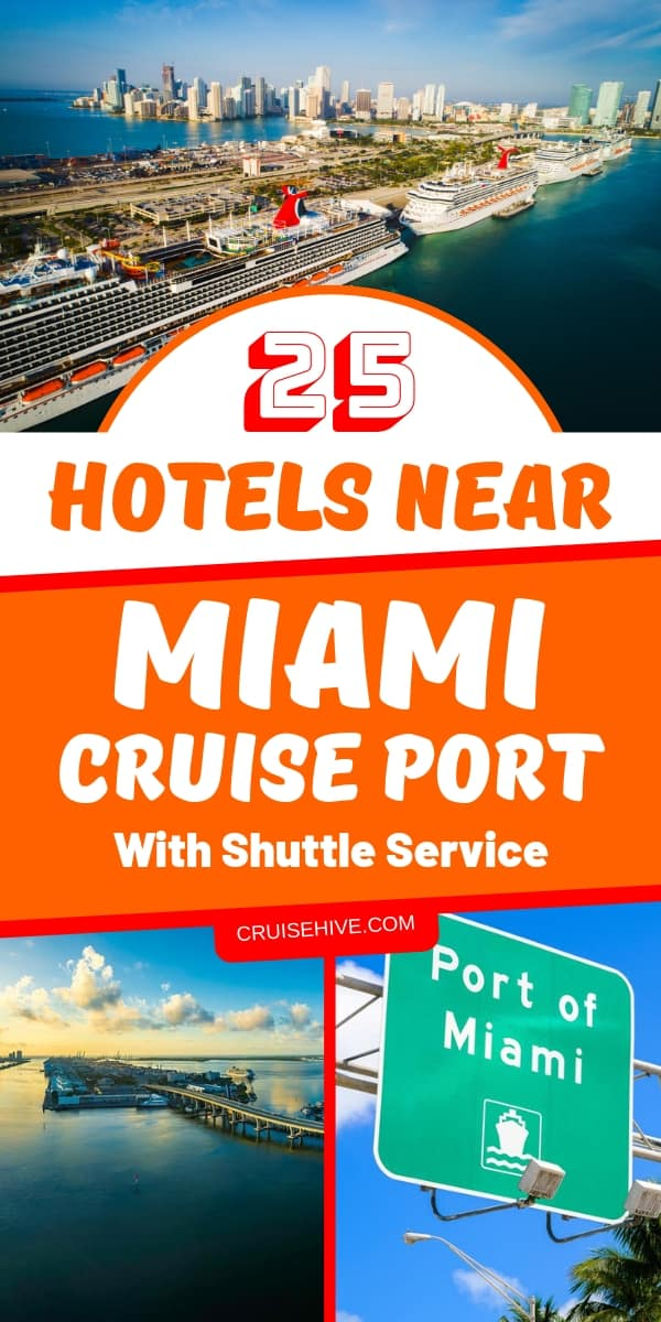 If you have a cruise vacation out of Miami cruise port then here is a helpful guide on nearby hotels which have a shuttle service to travel to the terminal.
