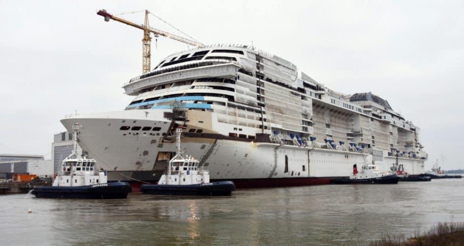 MSC Grandiosa Under Construction