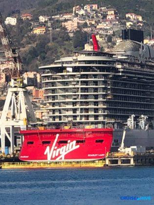 Scarlet Lady at Genoa Shipyard