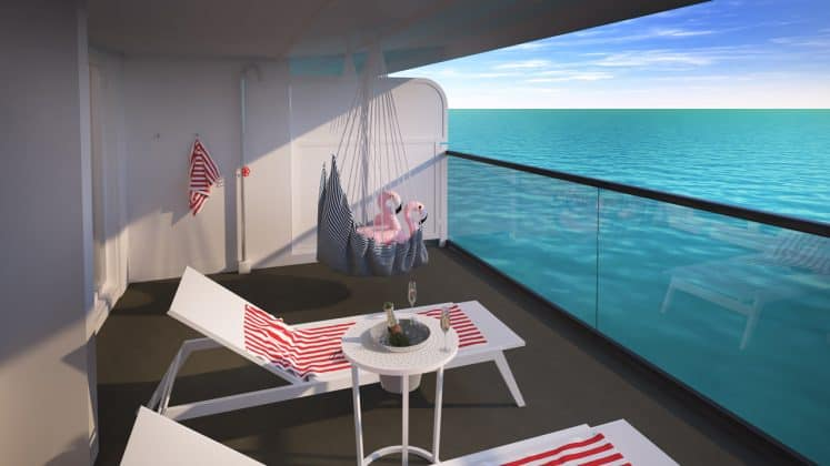 Virgin Voyages Scarlet Lady Suite