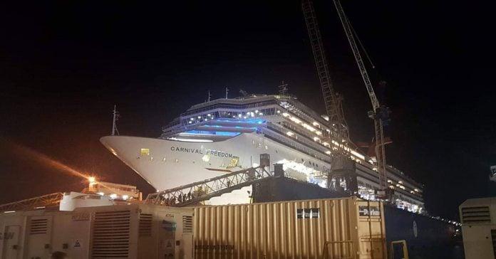Carnival Freedom Dry Dock