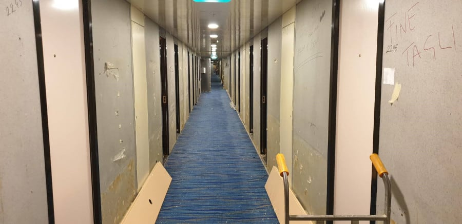 Carnival Sunrise Hallway Renovation